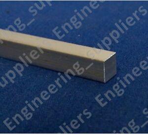 """1/4"""" Aluminium Square Solid Bar/Rod 50, 100, 150, 200, 300, 500 & 600mm Long"""