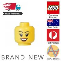 Genuine LEGO® Minifigure - Female/Woman/Girl Head - MOC Piece/Part - FREE POST