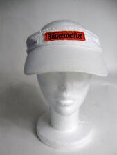 Jagermeister White 100% Cotton Golf Visor Patch Logo Adjustable Back Strap