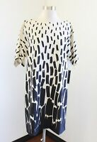 NWT Tahari ASL Levine Beige Black Ombre Printed Shift Dress Size 8 Abstract