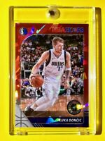 Luka Doncic RARE RED CRACKED ICE PRIZM PREMIUM STOCK 2019-20 NBA HOOPS - Mint!