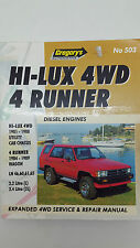 Gregorys SP No 503 Toyota Hi-Lux 4WD 4 Runner Diesel 1981 – 89 Service Manual