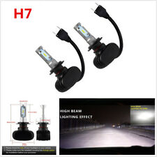 2x H7 50W 8000LM 6500K LED Car Headlight Driving Lamp Hi/Low Conversion Bulb Kit