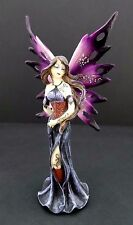 Purple Summer Fairy Statue Tattoos and Glitter Wings Mythical Fairy Figurine
