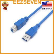 USB Cable 3.0 Printer A To B Type Male Device Cord for Printers Scanners