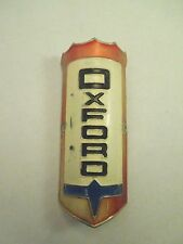 Vintage Oxford White, Red & Blue Colors Bicycle Head Badge Emblem