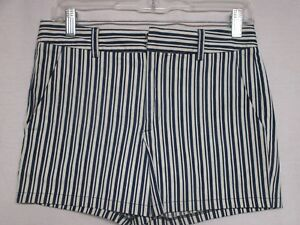 Nanette Lepore Blue Ivory Stripped Shorts Size 2   MSRP $198       c3