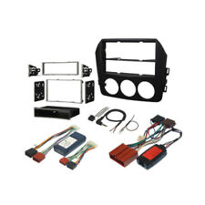 MAZDA MX-5 NC 2005 to 2015 BLACK DOUBLE DIN FASCIA & STEERING FITTING KIT STEREO