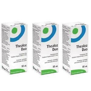 3X Théa Thealoz Duo Preservative Free Eye Drops (10ml)