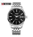 Curren 8052D-2-Silver/Black Stainless Steel Watch