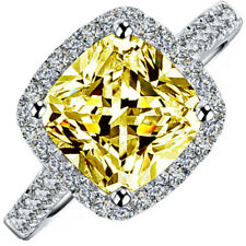 7.50 Carat Cushion Cut Diamond Fancy Yellow GIA Engagement Ring in Platinum