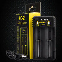 Basen BO2 USB 2 Channel Lithium Ion Battery Charger / 26650 21700 20700 18650