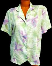 Alfred dunner white multi color floral folded collar button down top 14