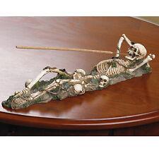 INCENSE BURNER: Resting SKELETON Bones Incense Stick Holder NEW