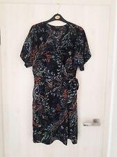 Warehouse dress UK 12 Wrap kimono col V style