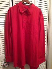 2XL Karl Knox Red Dress Shirt French Cuffs Cufflinks Size 36/37 Cotton Blend