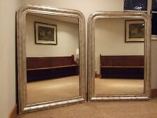 PAIR OF FRENCH ANTIQUE SILVER GILT WALL MIRRORS 1885. OVERMANTLE, OVERMANTEL