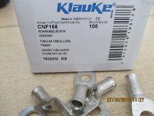 100 cosse cuivre etamé 16 mm² - m 8 , klauke