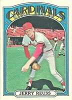 1972 Topps Baseball Set Break #775 Jerry Reuss ST Louis Cardinals HI NUMBER