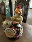 Vintage Battery Operated Daisy Drumming Duck Toy By ALPS, Japan, 1960s