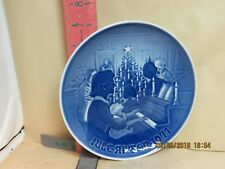 Bing & Grondahl Copenhagen Porcelain Christmas Plate - 1971 Christmas At Home