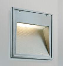 Aplique exterior empotrado en aluminio blanco
