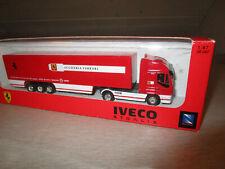 New-Ray Toys Iveco Stralis LKW mit Auflieger Scuderia Ferrari H0 1:87
