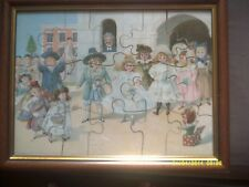 LOT. 1 .ANTIQUE VICTORIAN JIGSAW, FRAMED AND READY TO HANG