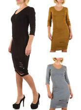 Damenkleider mit V-Ausschnitt aus Baumwolle in Größe XL
