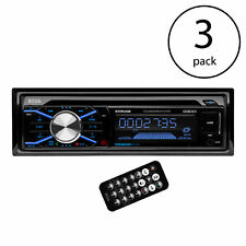 Boss In Dash Cd Car Player Usb Mp3 Stereo Audio Receiver Bluetooth (3 Pack)