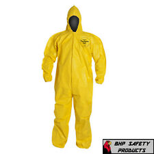 Dupont Tychem Tyvek Qc127s Yellow Coverall Chemical Hazmat Suit 1 Each Sz M 4x