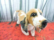"Realistic Basset Hound Dog Plush 16"" Stuffed Animal Bourguignon Puppy Standing"
