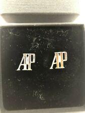 Audemars Piguet Silver Cufflinks, logo AP, New in box, Genuine