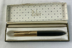 PP2 1930/'s Parker Duette Senior Thrift Time Fountain Pen Set in Cream and Blue 5 closed