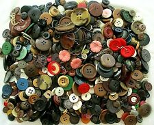 More details for huge vintage job lot of mixed buttons for crafting / sewing approx 850g (lot 1)