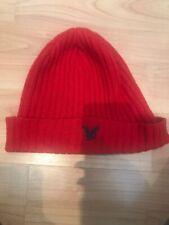 Mens / Boys Lyle And Scott Red Beenie Ski Hat