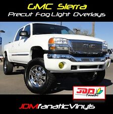 03-06 GMC Sierra Yellow Fog Light Overlays Tint Vinyl Film PRECUT Denali GM EDM