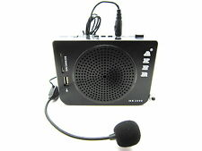Aker 16W Voice Amplifier Sound Booster Built in FM Radio Black For Teacher Guid