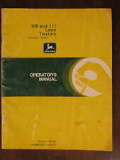 JOHN DEERE Operator's Manual 108 & 111 Lawn Tractors price for 1 & 3 available