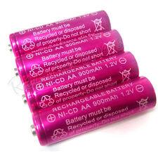 4 pcs Ni-Cd AA 900mAh 1.2V rechargeable battery Pink