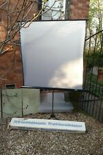 """Screen free standing Mw Germany 50""""x50"""" 130x130cm Silver mother pearl fold away"""
