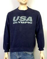 vtg 80s 90s JC Penney worn Distressed USA Olympics Sweatshirt Spell Out Logo L