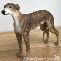 Brindle Greyhound ornament sculpture statue lifelike Leonardo figurine, boxed