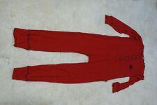 Red Long Johns Underwear Lazy One Bear Bottom Flap Adult Size SM Pajamas Unisex