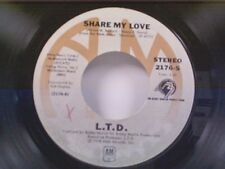 """L T D """"SHARE MY LOVE / SOMETIMES"""" 45 NEAR MINT"""