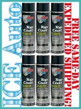6 CANS of POR-15 45818 Blackcote Gloss Black Top Coat 14oz Aerosol Spray Cans