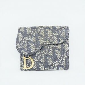 Auth DIOR/ChristianDior Saddle compact wallet Double-hook Wallet