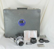 Hasselblad 500 C Film Camera Zeiss 80mm Lens Book Hard Case Filters 120 Vintage