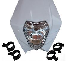 Headlight Street Fighter Dirt Bike Motorcycle Universal Vision Headlamp White