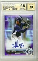 JESUS SANCHEZ 2017 Bowman Chrome Purple Refractor Rookie RC Auto /250 BGS 9.5 10